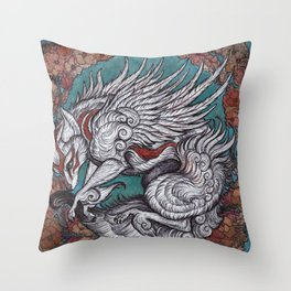 the sun Goddess Throw Pillow