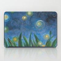 fireflies iPad Cases featuring Fireflies by Kristen Fagan