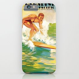 Paradise of the Pacific Surfer's Paradise Vintage Poster iPhone Case