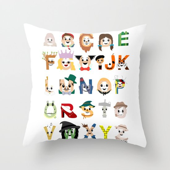 Oz-abet (an Oz Alphabet) Throw Pillow