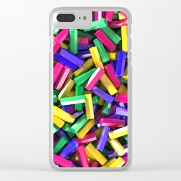 Pile of colorful hexagon details Clear iPhone Case