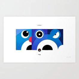 PKMNML #060 - 062 (EVOLUTION) POLI WAG - POLI WRATH Art Print