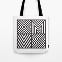 xmas Tote Bags featuring XMAS by Péter Árpád