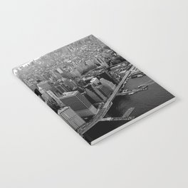 New York, NYC, Black & White (Manhattan, Brooklyn, Queens) Notebook
