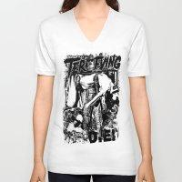 horror V-neck T-shirts featuring Horror by HEADBANGPARTY