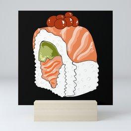 Salmon-Avocado Sushi Roll Cartoon / GFTCartoon001 Mini Art Print