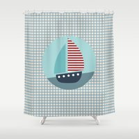 sailing Shower Curtains featuring Sailing by Mr and Mrs Quirynen