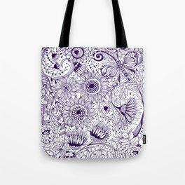 Floral doodles Tote Bag