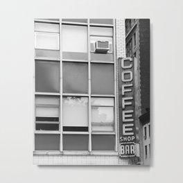 New York Coffee Shop Metal Print