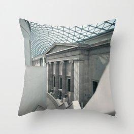 Inside the British Museum Throw Pillow