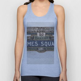 Times Square Subway New York, Tile Mosaic Sign Unisex Tank Top