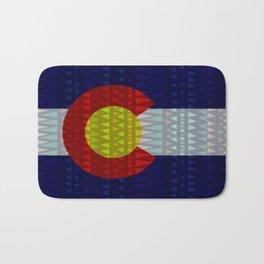 Colorado Flag/Geometric Bath Mat