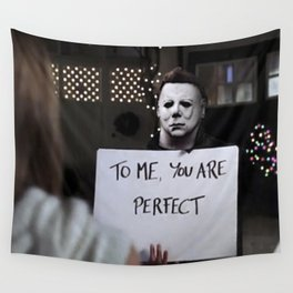 Michael Myers in Love Actually Wall Tapestry