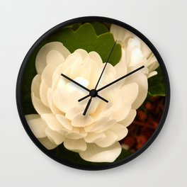 Double Bloodroot Wall Clock