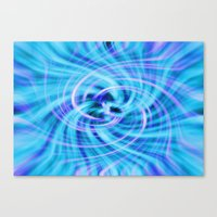 pivot Canvas Prints featuring Blue twirl by AvHeertum