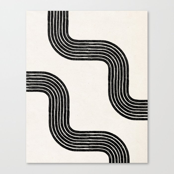 Abstract Modern Lines Canvas Print