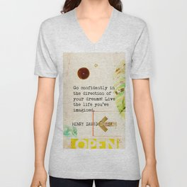 Go confidently in the direction of your dreams! Henry David Thoreau, vint. Unisex V-Neck