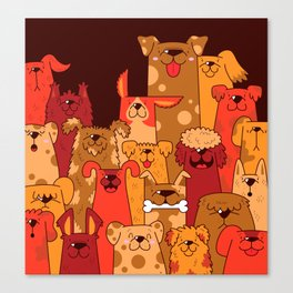 Pile of Woofs Canvas Print