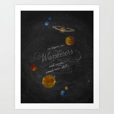 Wanderers - Carl Sagan Art Print