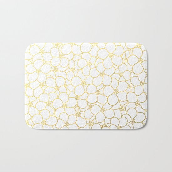 Forget Me Knot White Gold Bath Mat