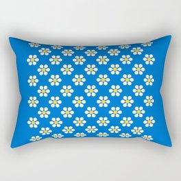 Daisies on Cool Blue - more colors Rectangular Pillow