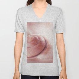 Snail shell, red Emotion Unisex V-Neck