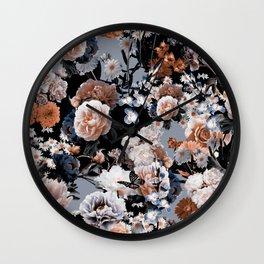 Natural Flowers Wall Clock