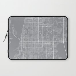 Clearwater Map, Florida USA - Pewter Laptop Sleeve