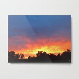 Sunset Blaze Metal Print