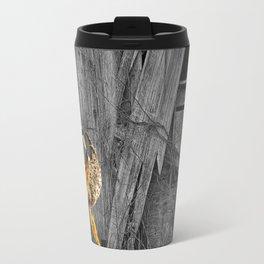 Milkweed Pods and Barn Wall Travel Mug