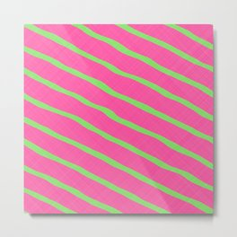 Neon Stripes 1A Metal Print