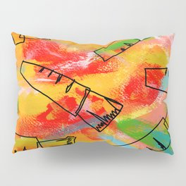 Food Illustration Carrots Pattern Vegetable Painting Pillow Sham