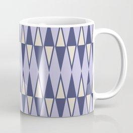 Mid Century Modern Diamond Pattern Lavender 232 Coffee Mug