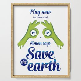 Simon says... Save the earth Serving Tray