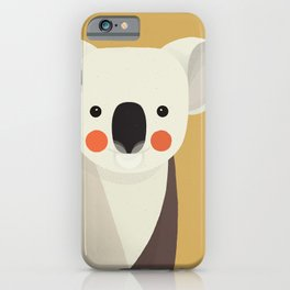 Koala, Animal Portrait iPhone Case