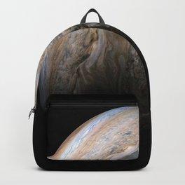 Jupiter's stormy Northern hemisphere Backpack