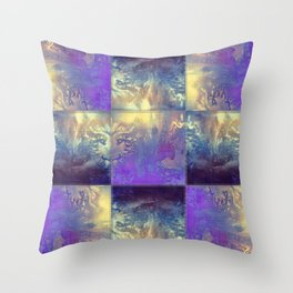 Abstract Silver Stiched canvas Throw Pillow