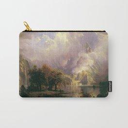Albert Bierstadt - Rocky Mountain Landscape (1870) Carry-All Pouch