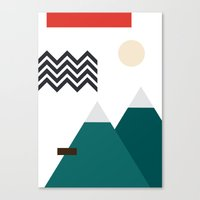 twin peaks Canvas Prints featuring Twin Peaks by Art by FOUR.