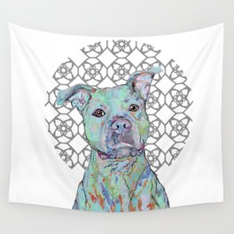 Staffy Portrait Wall Tapestry