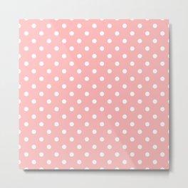 Pattern Pois Blanc/Rose Metal Print