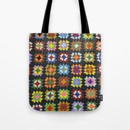 Crochet Granny Squares // Bright Tote Bag