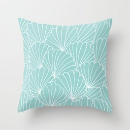 Abstract Shell Seamless Pattern Throw Pillow