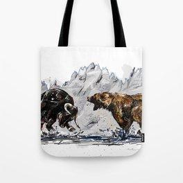 Bull and Bear Tote Bag
