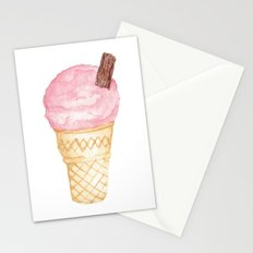 Watercolour Illustrated Ice Cream - Berries on Ice Stationery Cards