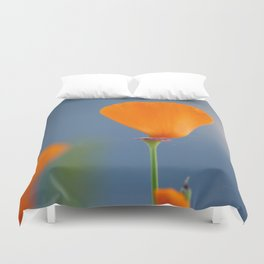California Poppy Dreaming Duvet Cover