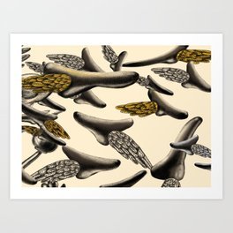 Flying noses Art Print
