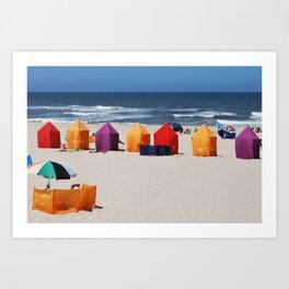 Colors on a beach Art Print