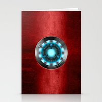 iron man Stationery Cards featuring Iron Man Iron Man by ThreeBoys
