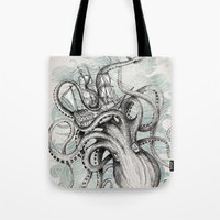 bee Tote Bags featuring The Baltic Sea by David Fleck